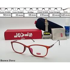 Baru Frame Kacamata Lensa Minus Levis Kacamata Levis Frame Korea Kotak Murah