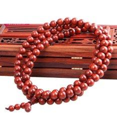 Bead Bracelet Hand String Of Ms 1.0 Cm * 108 Beads Lobular Sandalwood (Red) (Intl)