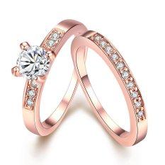 Ring AKR020-B-6 Aksesoris Perhiasan Cincin Lapis Emas