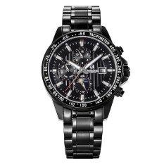 Bestdon 7108G Men's Sport Waterproof Stainless Steel Band Luminous Pointer Auto-Mechanical Watch (Black)