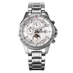 Bestdon 7108G Men's Sport Waterproof Stainless Steel Band Luminous Pointer Auto-Mechanical Watch (Silver)