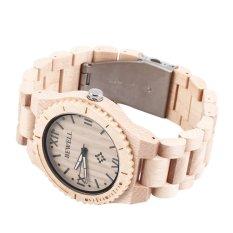 Allwin Bewell W065A High Quality Wooden Watches Men's Quartz Wrist Watch Maple Wood (Intl)