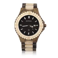 Bewell W023A Wood Watch Wristwatch Wooden Men's Quartz Wrist Watch Gift Special Wood Designraws Much Attention Top Quality - Intl