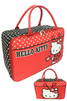 BGC Travel Bag Kanvas Hello Kitty 2 Sisi Bahan Halus Kitty Bee