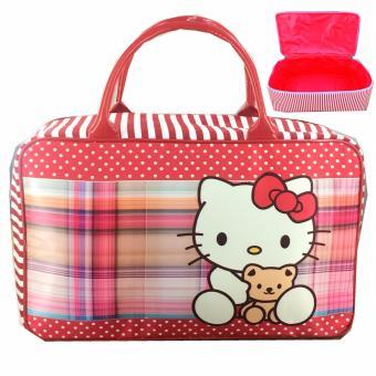 BGC Travel Bag Kanvas Hello Kitty Hug Doll - Red White