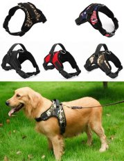 Big Dog Soft Harness Adjustable Pet Dog Big Exit Harness Vest Collar Strap for Small and Large Dogs Pitbulls - Leopard(M)