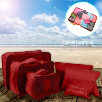 BIG SIZE Travel Bag 6in1 Organizer IM OR 60-01/Organizer Space Koper 1 Set - Maroon