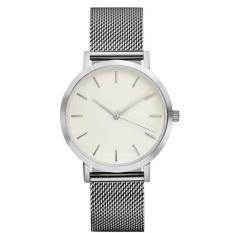 Bigskyie Classic Women's Men's Wrist Watch Steel Strap Quartz Casual Watches Silver Free Shipping