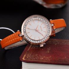 Bingbling Imitation Diamond Slim Strap Elegant Quartz Watch For Woman Waterproof Life