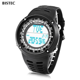 [BLACK] BISTEC 006 Male Digital Watch LED Display Alarm Stopwatch 3ATM Men Sport Wristwatch - intl