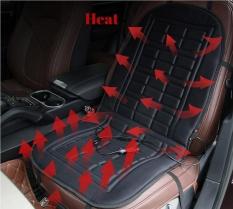 Black Car Heated Seat Cushion Cover Auto 12V Heating Heater Warmer Pad Winter - intl