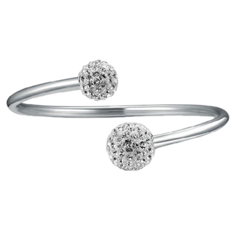 Kelebihan U7 Gelang Rantai Bunga Kristal Yang Indah Dapat Disesuaikan Untukhadiah Berlapis Mode Perhiasan Wanita Platinum