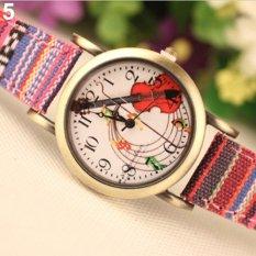 Bluelans Fashion Women's Faux Leather Denim Strap Analog Quartz Watch (Intl)