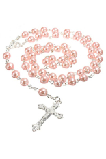 Bluelans Rosary Chain Faux Pearl Beads Necklace Drop Cross