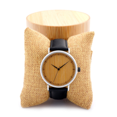 Bobobird A05 Luxury Watch Men Bamboo Wood Quartz Watches With Leather Straps relojes mujer marca de lujo in Round Bamboo Box - intl