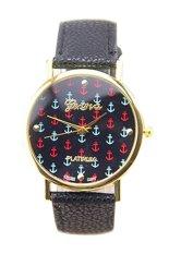 BODHI Women Faux Leather Geneva Ladies Dress Quartz Watch (Black) (Intl)