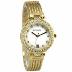 Bonia BN10317K Jam Tangan Wanita Stainless Steel Gold