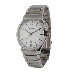 Bonia Jam Tangan Pria - Silver - Strap Stainless Steel - Watch B914-1315