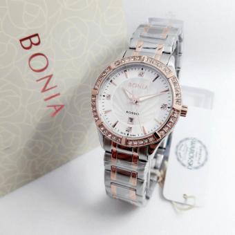 Bonia Rosso - Jam Tangan Wanita - Silver Komb Gold - Ring Gold - Stainless Steel