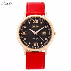 Brand Women Dress Watches Waterproof Gift BOX ROOD Leather Strap Fashion Quartz Watch Diamond Wristwatches Ladies Hours 2016 New