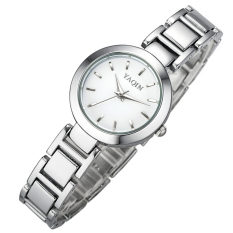 Brand YaQin Women Watch Female Fashion Simple Watches Classical Clock Bracelet Quartz Watch (White) - Intl