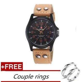 [Buy 1 Get 1 Free] Swiss Army Men's Watches Leather Strap Watch - Black