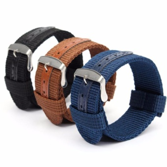 Buy 1 Get 3 Twinklenorth 20mm Nylon Nato Strap Nylon Military Watch Band Strap Watchband NATO-061 - intl
