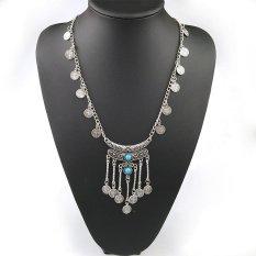 BUYINCOINS Charm Gypsy Ethnic Tribal Turkish Boho Coin Chain Gem Tassel Necklace Jewelry (Intl)