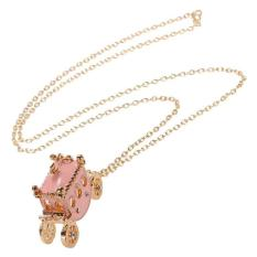 BUYINCOINS New Women Rhinestone Light Pink Small Pumpkin Carriage Princess Pendant Necklace (Intl)