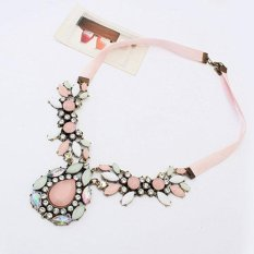 BUYINCOINS Women Fashion Pendant Chain Crystal Choker Chunky Statement Bib Necklace Jewelry (Intl)