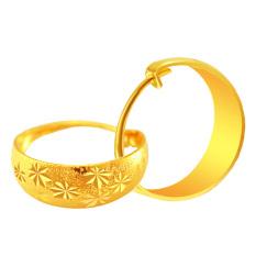 CADIS 24 KB Emas Dengan Benar Emas Berlapis Pola Kemilau Anting-Anting