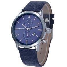 Calendar Elegant Business Wristwatch 3 Degree Waterproof Men Watch Luxury Leather Watches Wristwatch Relojio Masculino (Intl)