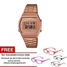 Casio Digital B640WC-5ADF - Jam Tangan Wanita - Brown - Resin + Free 1pc Kacamata Korea Style - Warna Random Termasuk Kotak Dan Lap Kacamata (Brown)