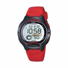 Casio Digital LW-200-4AV - Jam Tangan Wanita - Strap Resin - Red - LM