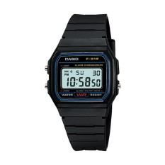 Casio Digital Watch Jam Tangan Unisex - Hitam - Resin Strap - F-91W-1DG