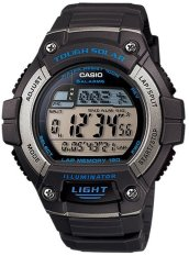 Casio Digital Watch W-S220-8AVDF - Jam Tangan Pria - Karet - Tough Solar (Grey)