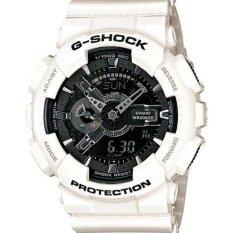 Casio G-Shock Men's White Resin Strap Watch GA-110GW-7A (White)