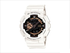 Casio G-Shock Men's White Silicon Strap Watch GA-110RG-7ADR