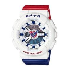 Casio G-Shock Women's BA-110TR-7ACR White / Red / Blue Watch