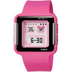 Casio Jam Tangan Lcf20-4 Wanita Analog Digital Poptone Strap Rubber Pink Jam Gelang Fashion