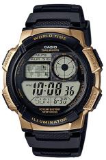 Casio Jam Tangan Pria AE-1000W-1A3VDF- Hitam Kuning Mas - Karet