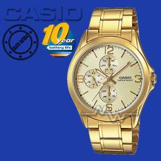 Casio Jam tangan pria MTP-V301G-7A Stainless Steel Analog Watch