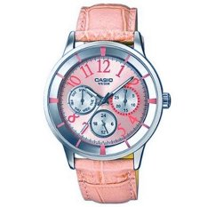 Casio - Jam Tangan Wanita - Pink - Tali Kulit - 2084L-4B2VDF