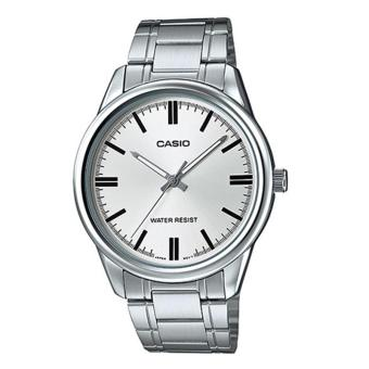 Casio Analog MTP-V005D-7A - Jam Tangan Pria - Silver - Stainless Steel