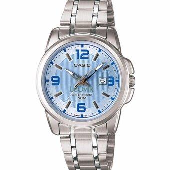 Casio Standard LTP-1314D-2AVDF - Jam Tangan wanita - Silver - Strap Stainless