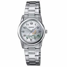 Casio Standard LTP-V001D-7B - Jam Tangan Wanita - Strap Stainless Steel - Silver - LM