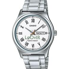 Casio Standard MTP-V006D-7B - Jam Tangan pria - Silver White - Strap Stainless Steel - LM