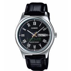 Casio Standard MTP-V006L-1B - Jam Tangan pria - Black Black - Strap Leather