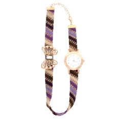 Casual Style Fabric Bracelet Wristwatch Women Fashion Luxury Watch NO.4 (Intl)