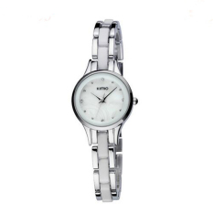 Ceramic Bracelet Watch Ladies Loose-fitting Women's Dress Women's Fashion Watch (Silver) (Intl)